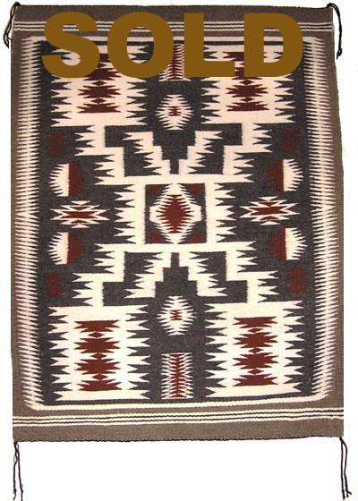 Nr1009 Storm Navajo Rug Authentic Navajo Rugs Blankets