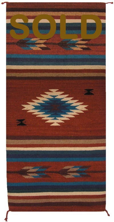 Zt1022 Zapotec Navajo Rug Replica Authentic Navajo Rugs